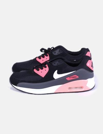 énorme réduction 55fbe 90b5c Nike air max noir et rose