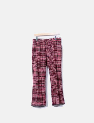 Pantalón chino rosa de cuadros