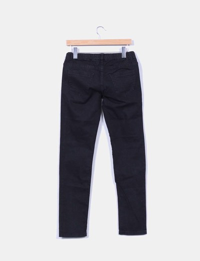 Leggings denim negro