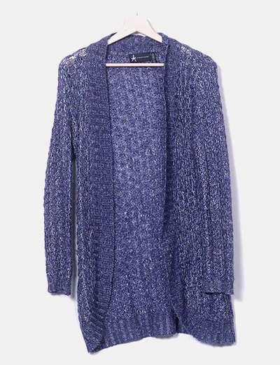 Jersey de punto azul marino glitter Primark