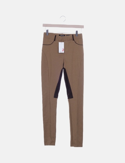 Legging marrón combinado