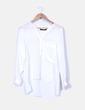 Camisa blanca de seda oversize  Zara