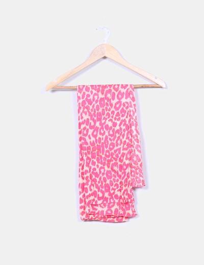 Pañuelo rosa print animal NoName
