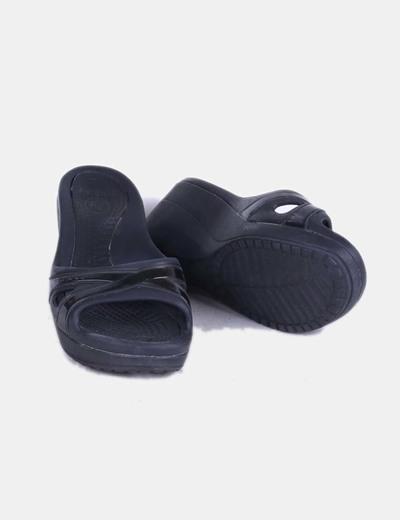 Negra Cuña Crocs Sandalia Crocs Con Sandalia Sandalia Negra Cuña Con Negra Con Cuña 8n0wmNvO