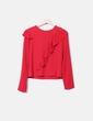 Blusa volantes roja Bershka