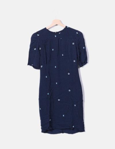Vestido de rayas estampado estrellas