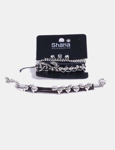 Pack pulseras con brillantes Shana
