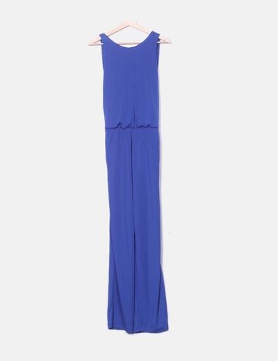Mono largo azul licra Zara
