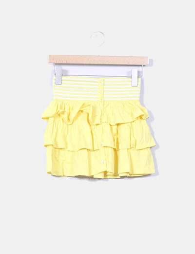 Mini falda amarilla con volantes Menglu