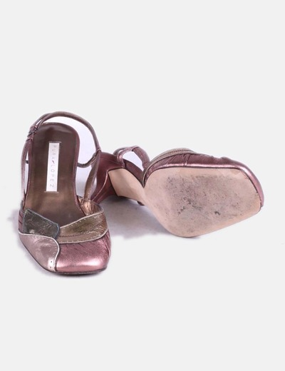 Zapato tacon combinado