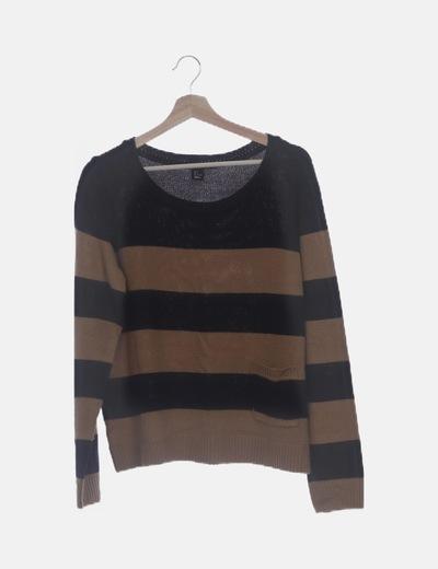 Jersey tricot raya bicolor