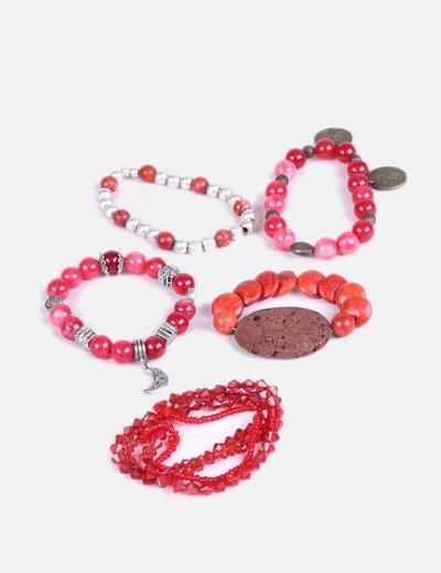 6061e7c0757c NoName Pack 5 pulseras rojas (descuento 79%) - Micolet
