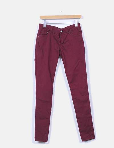 Jeggings denim burdeos