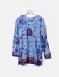 Vestido midi azul estampado NoName