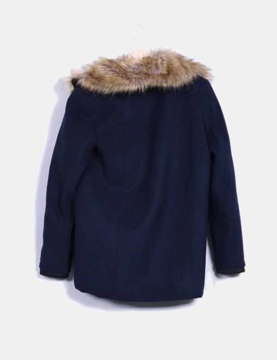 Abrigo azul combinado con pelo