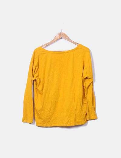 6f988c8362 Zara Camiseta básica mostaza con manga larga (descuento 77%) - Micolet
