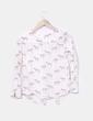 Blusa blanca print cebra NoName