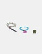 Conjunto pulseras bolas verdes y anillo NoName