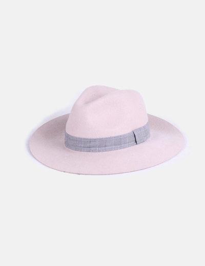 Sombrero fieltro beige