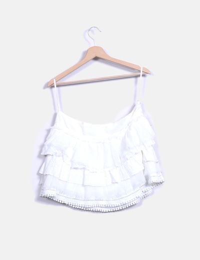 Falda mini blanca combinada