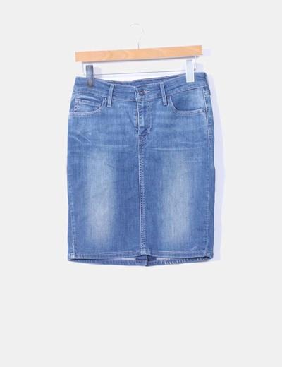 Mini falda denim ajustada Levi's