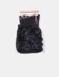 Vestido negro combinado palabra de honor BDBA