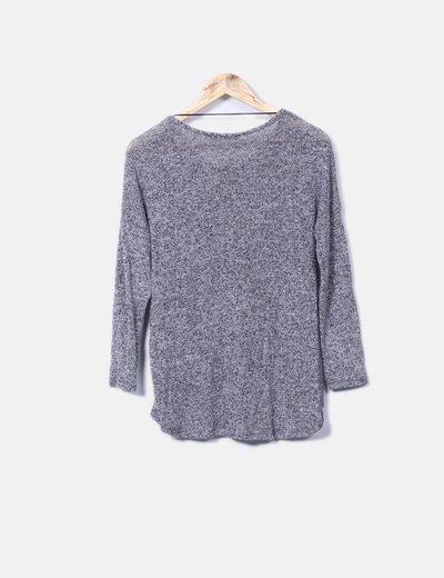 Jersey de punto gris jaspeado