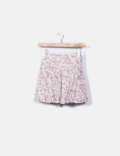 Mini saia floral com cinto Pepe Jeans