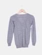 Suéter gris rayas glitter Mango
