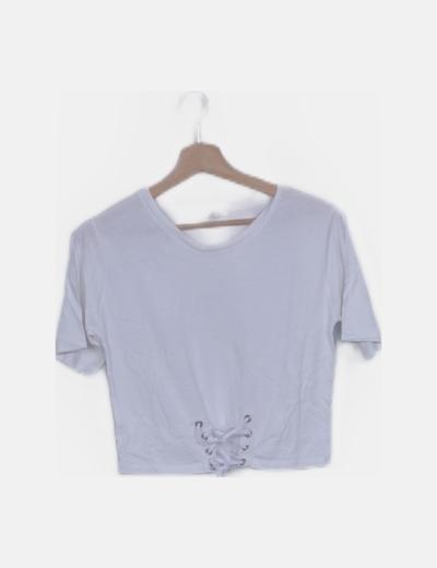 Camiseta blanca lace up