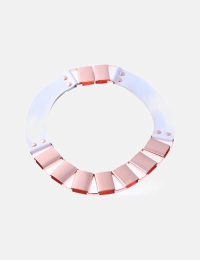 Collar combinado blanco rose gold