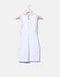 Vestido blanco con encaje Zara