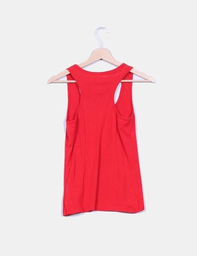 Camiseta basica roja espalda nadadora
