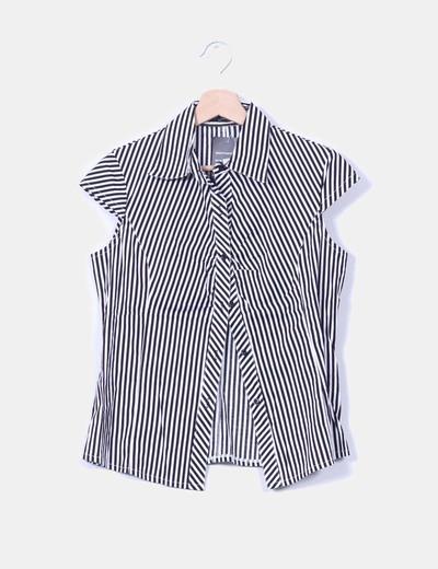 Blusa bicolor de rayas manga corta Monika