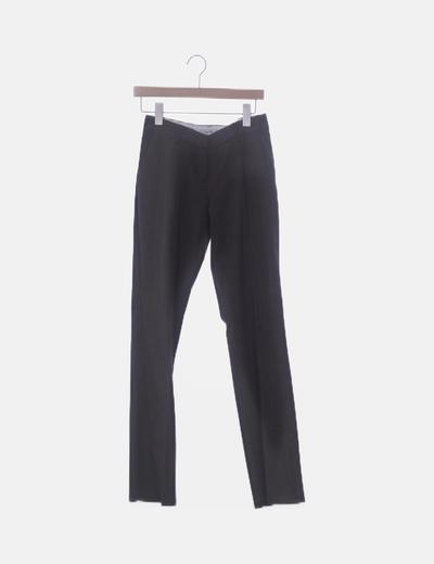 Pantalón marrón jaspeado
