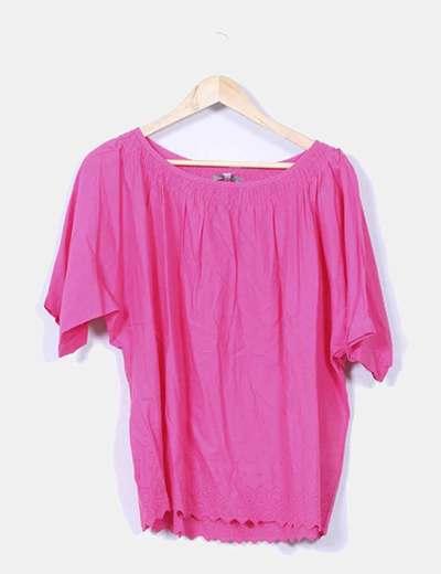 Blusa rosa fucsia oversize  Tex Woman