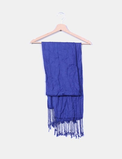 Pañuelo azul con flecos NoName