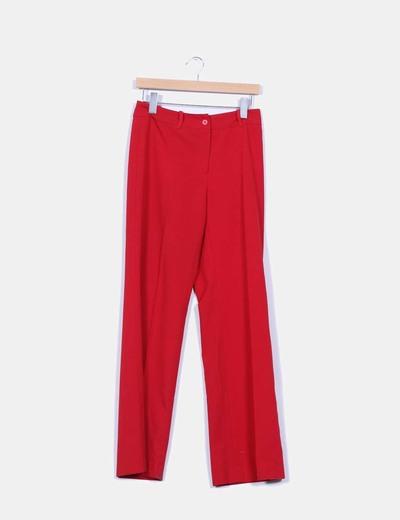 Pantalón recto detalle cintura Easy Wear