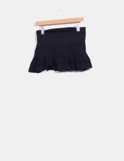 Falda pantalon con volantes