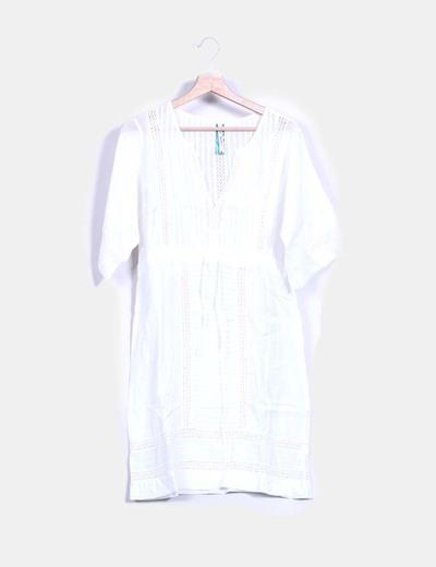 Robe blanche de style boho Pepe Jeans