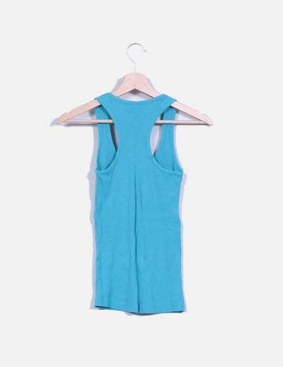 Camiseta basica azul turquesa
