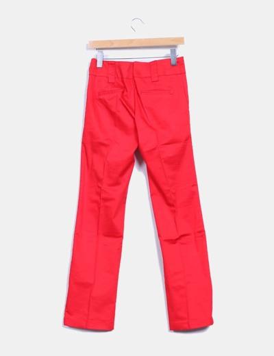 Pantalon de pinzas rojo