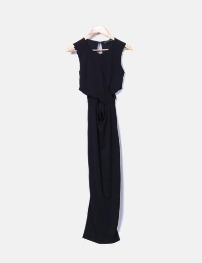Vestido maxi negro Bershka