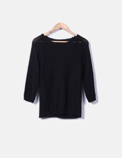 Pulls noir avec motif agujeross H&M