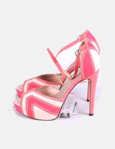Sandales tricolores Suiteblanco