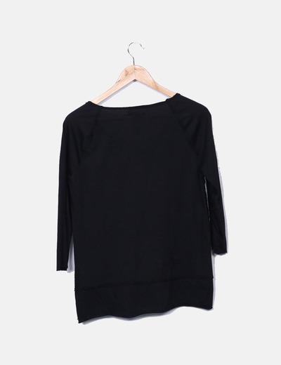 Camiseta estampada con pailettes
