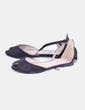 Sandalia negra con strass Corina