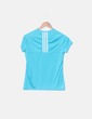 Camiseta azul de manga corta Adidas