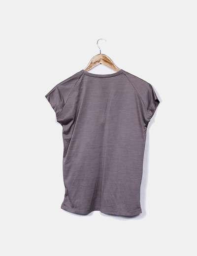 92209aebabbf Zara T-shirt de paillettes de couleur taupe (réduction 76%) - Micolet