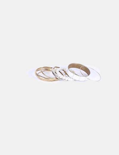 Conjunto de pulseras doradas NoName